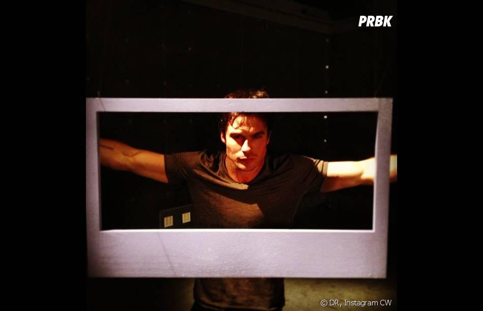 Vampire Diaries saison 5 : Ian Somerhalder dans les coulisses d'un photoshoot