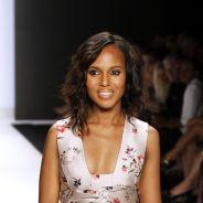 Kerry Washington : mannequin d'un jour pour la Fashion Week