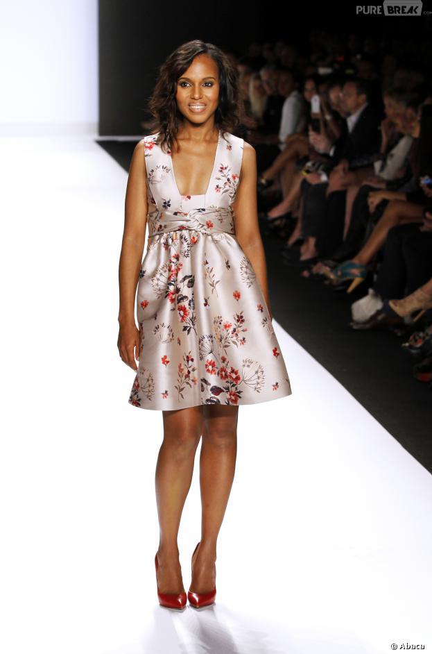 Kerry Washington joue les mannequins pour l'émission Project Runaway le 6 septembre 2013 à New York
