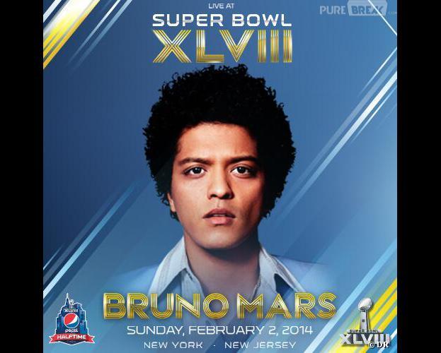 Bruno Mars confirmé pour le Super Bowl 2014