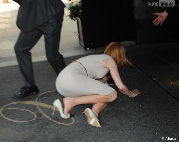 Nicole Kidman renversée par un paparazzi à vélo, le 12 septembre 2013 à New-York