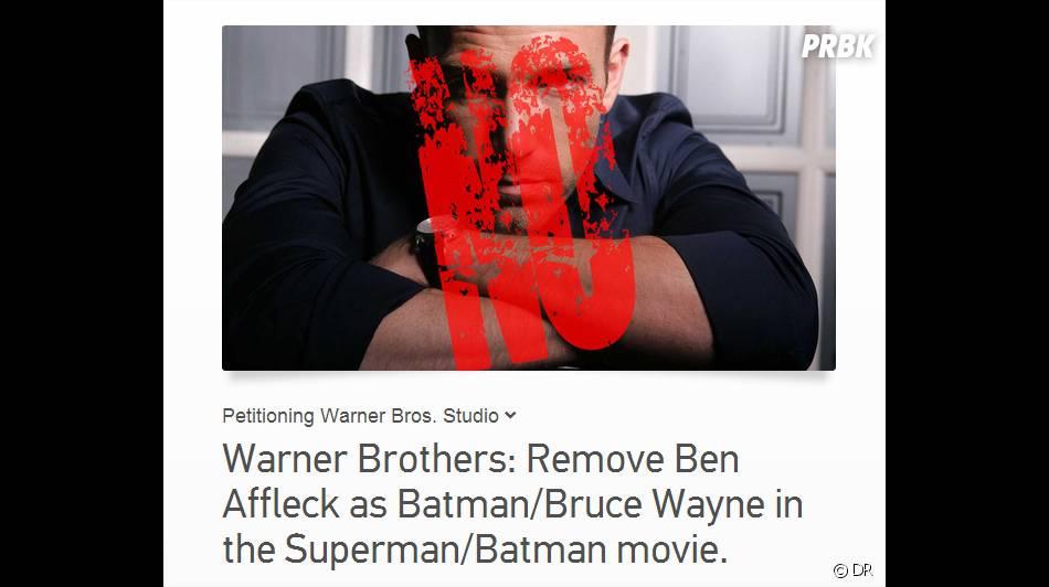 Ben Affleck en Batman : une pétition contre sa participation à Man of Steel 2