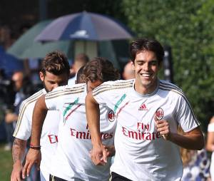 Kaka s'entraîne avec le Milan AC, le 5 septembre 2013 à Milan