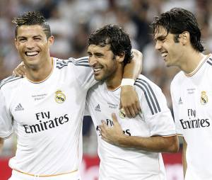 Kaka et ses anciens coéquipiers, Cristiano Ronaldo et Raul