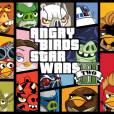 GTA 5 parodié par Angry Birds sur Twitter