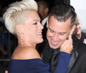 Pink et son mari Carey Hart, le 16 septembre 2013 à Los Angeles