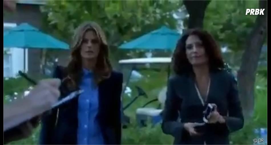 Castle saison 6, épisode 1 : Lisa Edelstein et Stana Katic dans un extrait