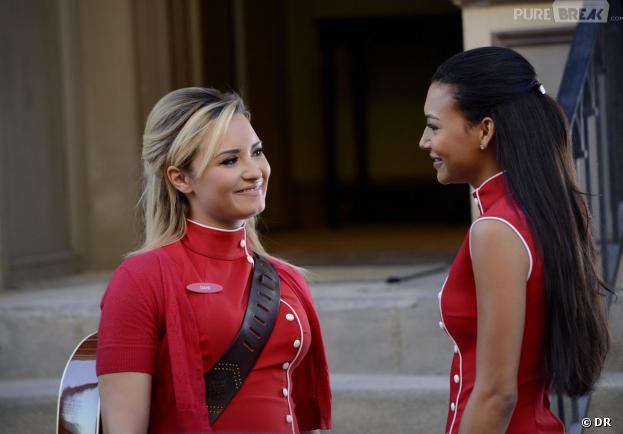 Glee saison 5 : Demi Lovato et Naya Rivera dans l'épisode 2