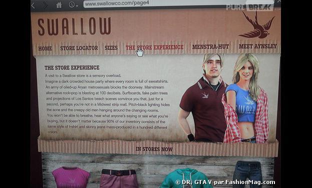 GTA V et ses boutiques Swallow : parodie cinglante de la marque Abercrombie & Fitch