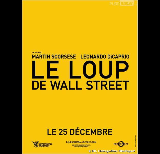 """""""Le loup de Wall Street"""", l'affiche"""