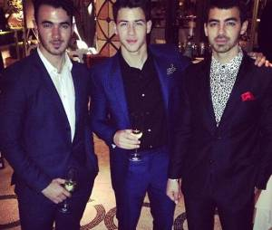 Nick Jonas et ses frères Kévin et Joe au XS Nightclub de Las Vegas
