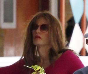 Jared Leto sur le tournage de Dallas Buyers Club en décembre 2012