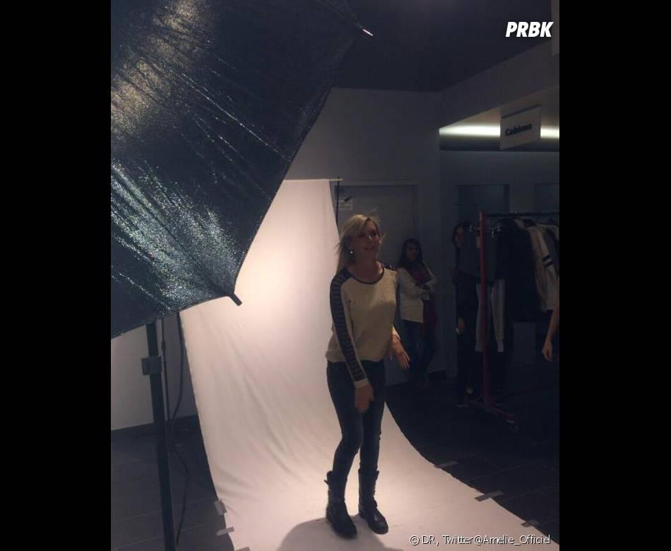 Amélie Neten pour le shooting pour la marque Blooshop