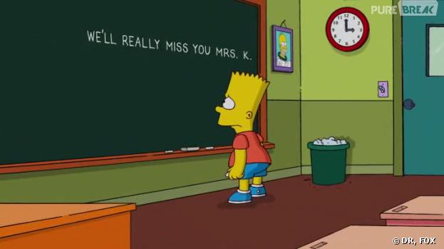 Bart Simpson rend hommage à Marcia Wallace