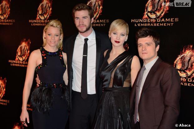 Hunger Games l'embrasement : les acteurs à l'avant-première parisienne le 15 novembre 2013, au Grand Rex