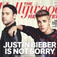 Justin Bieber et Scooter Braun en Une du Hollywood Reporter