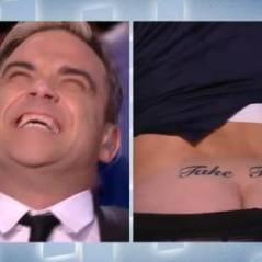 Le Grand Journal : Antoine De Caunes montre ses fesses à Robbie Williams