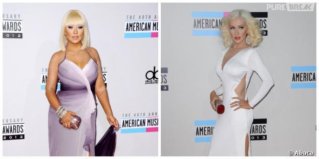 Christina Aguilera amincie aux American Music Awards 2013