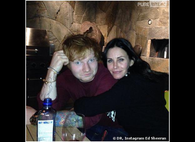 Ed Sheeran et Courteney Cox sur Instagram, le 19 novembre 2013