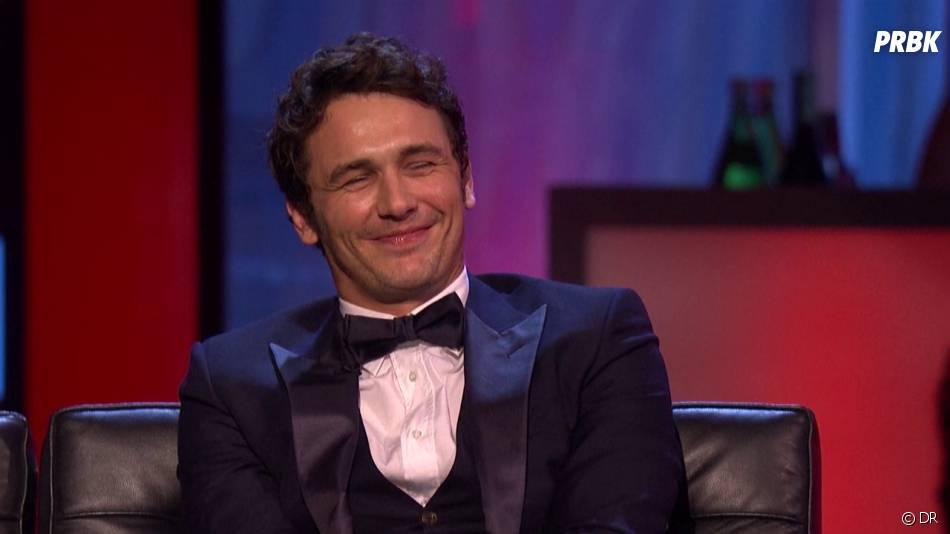 James Franco sur le plateau d'une émission de la chaîne Comedy Central qui sera diffusée le 2 septembre 2013