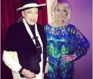 Caroline Receveur aux Lauriers TV Awards, le 9 janvier 2014