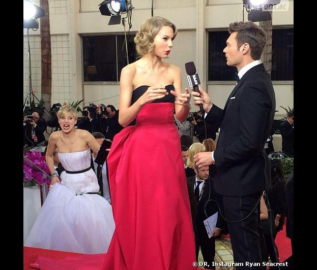 Golden Globes 2014 : le photobomb remarquée de Jennifer Lawrence à Taylor Swift