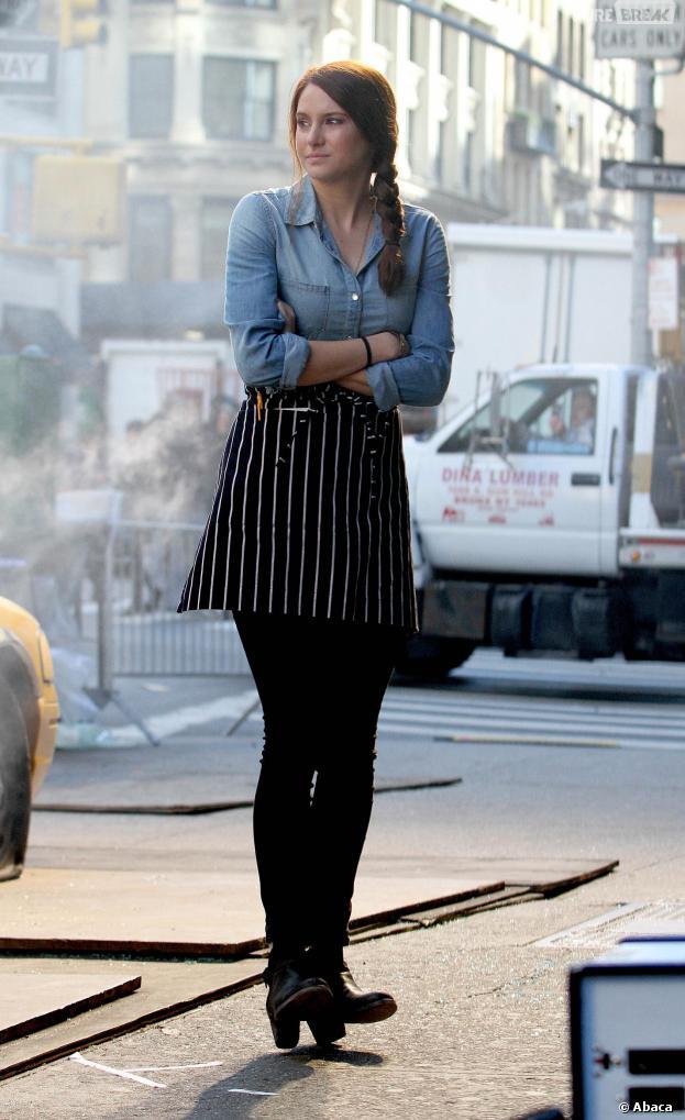 Shailene Woodley sur le tournage de The Amazing Spider-Man 2