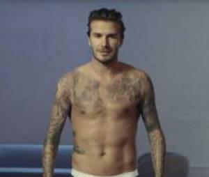 David Beckham : torse nu pour la campagne 2014 de la marque H&M