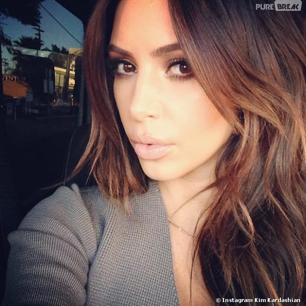 Kim Kardashian redevient brune, le 1er février 2014 sur Instagram