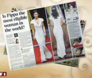 Pippa Middleton a plaisanté sur sa tenue lors d'un dîner organisé à Londres, le lundi 24 février
