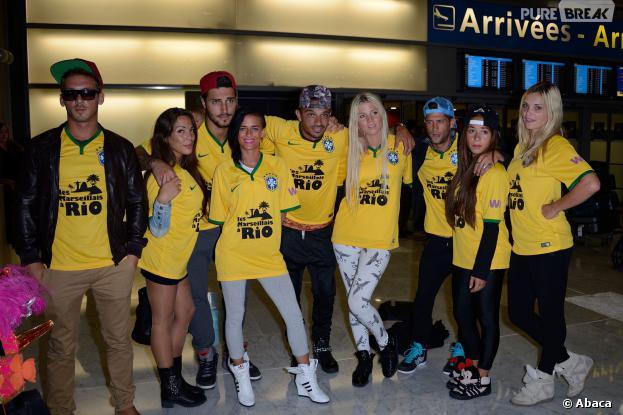 Les Marseillais à Rio : les candidats à l'aéroport Charle-de-Gaulle, le 6 mars 2014