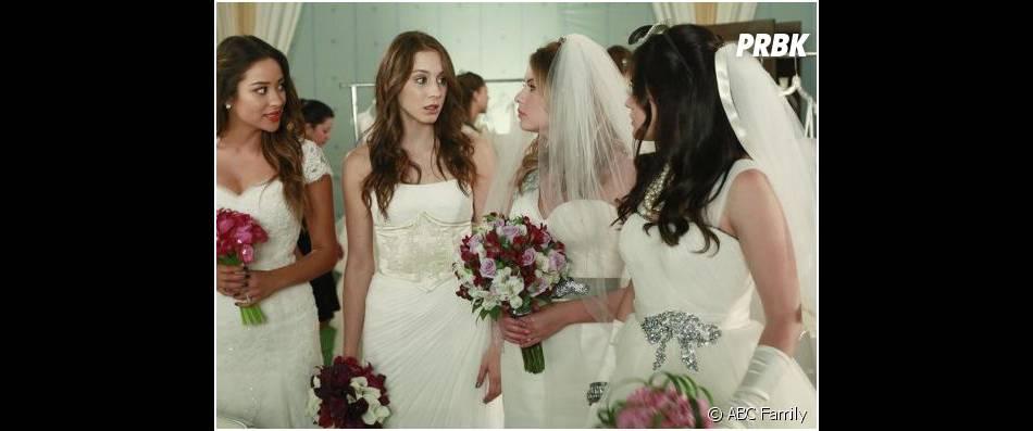 Pretty Little Liars saison 4, épisode 23 : les petites menteuses en robes de mariée
