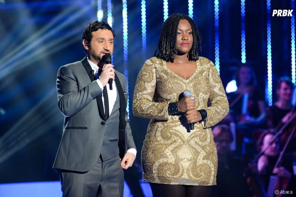 Yseult et Cyril Hanouna lors de la finale de Nouvelle Star 2014