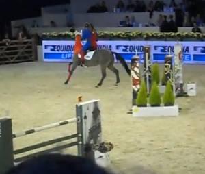 Benjamin Castaldi chute à cheval