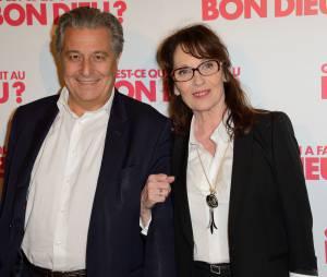 Christian Clavier et Chantal Lauby à l'avant-première de Qu'est-ce qu'on a fait au bon Dieu ?, un film réalisé par Philippe de Chauveron au cinéma le 16 avril 2014