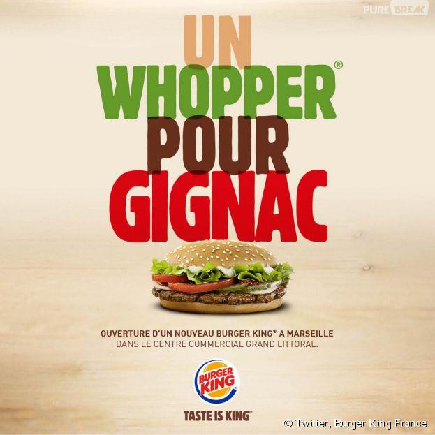 Burger King se moque gentiment d'André-Pierre Gignac pour l'ouverture de son second restaurant marseillais