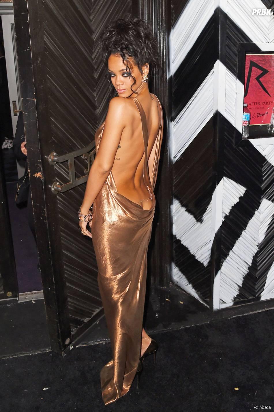 Rihanna fesses à l'air à l'after party du Met Gala 2014, le 5 mai 2014