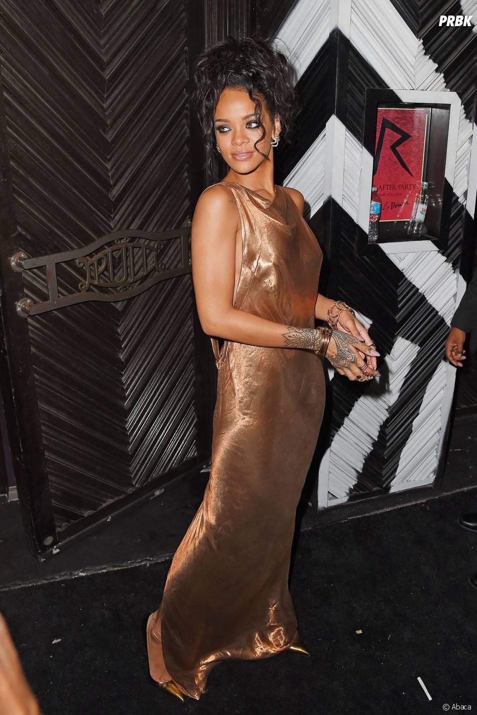 Rihanna : nouvelle exhib' à l'after party du Met Gala 2014, le 5 mai 2014