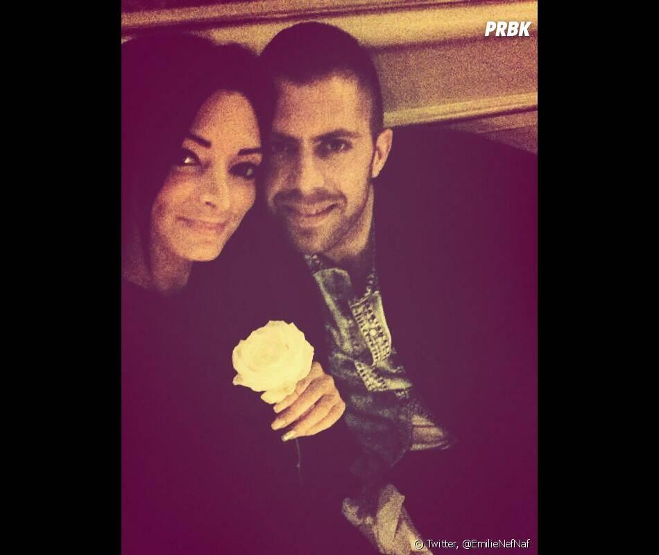 """Emilie Nef Naf et Jérémy Ménez : couple """"in love"""", le 28 février 2014 sur Twitter"""