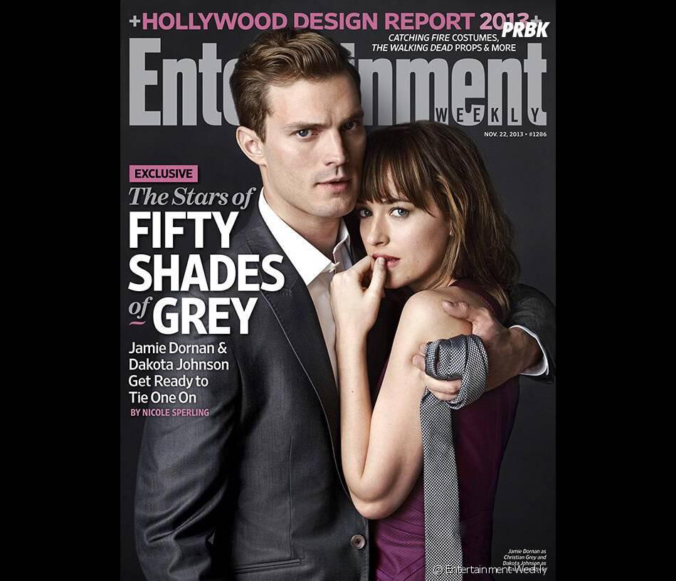 Fifty Shades of Grey : Jamie Dornan et Dakota Johnson en couverture de EW