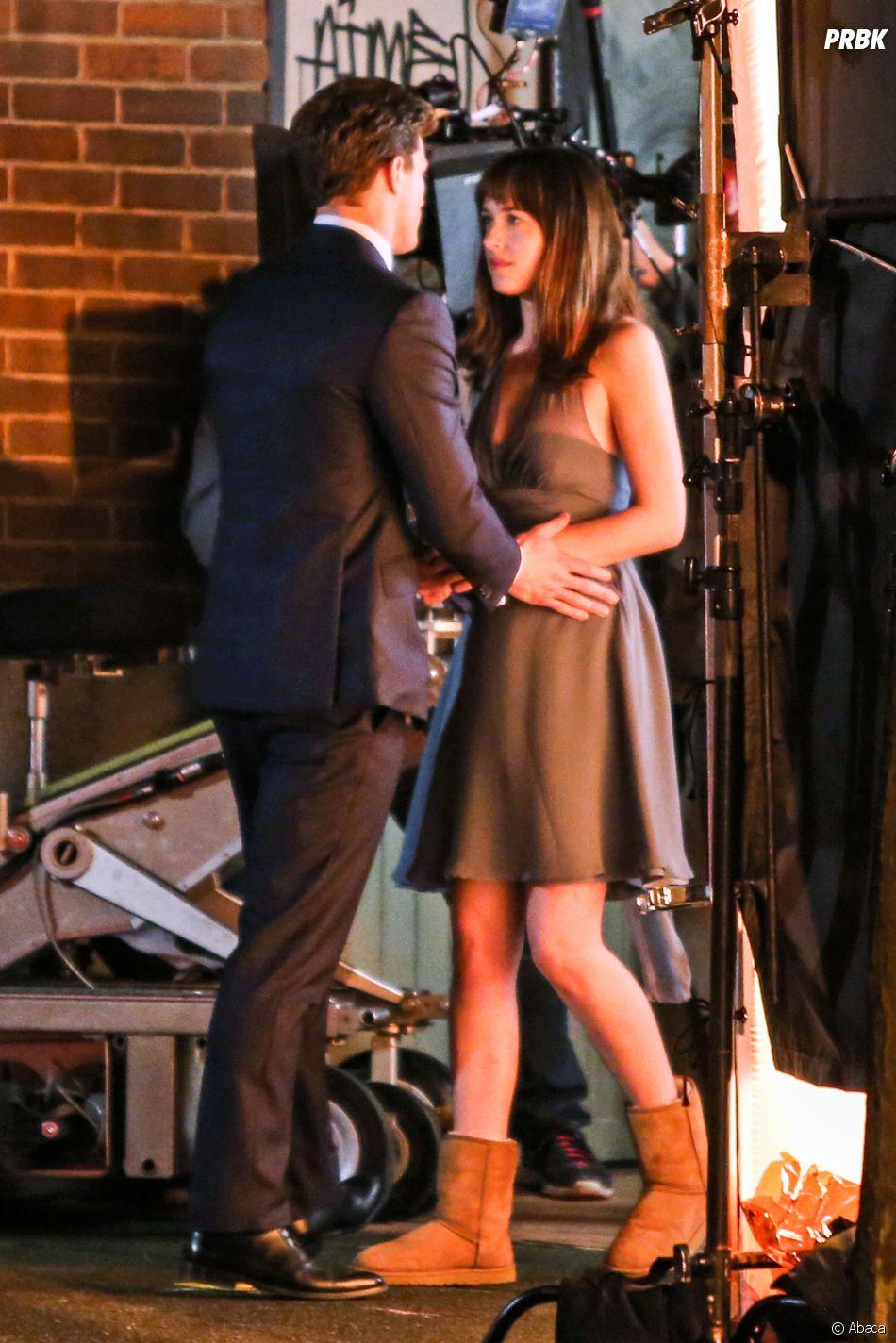 Fifty Shades of Grey : Dakota Johnson et Jamie Dornan sur le tournage à Vancouver