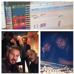 M. Pokora en studio pour l'enregistrement de son 6e album