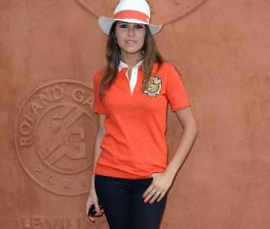 Karine Ferri au village Roland Garros le 27 mai 2014
