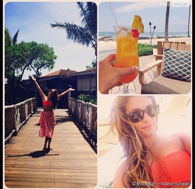 Lea Michele : vacances et soleil à Hawaï pour l'actrice de Glee