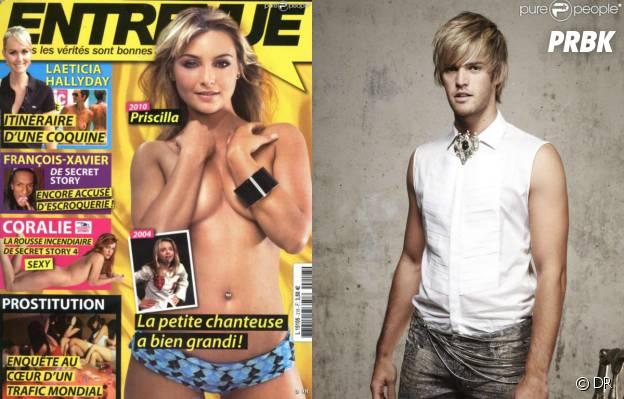 Priscilla, topless en Une du magazine Entrevue en 2010 et Florent Torres, blond pour la comédie musicale Dracula en 2011
