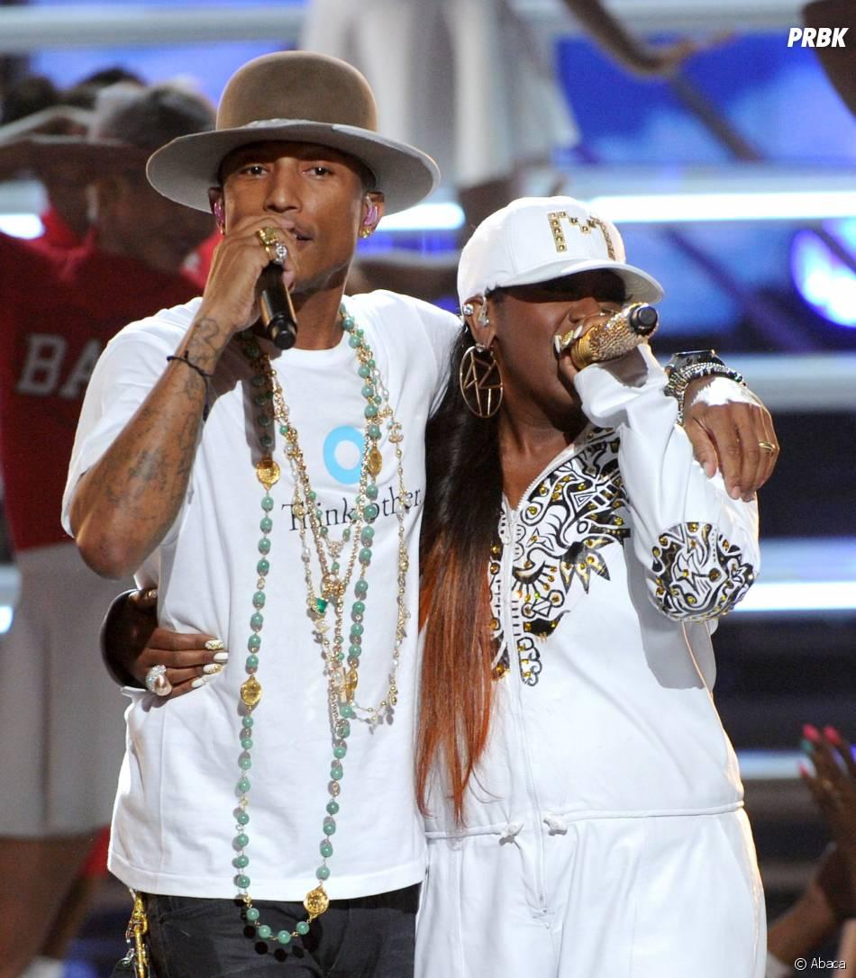 Pharrell Williams et Missy Elliott à la cérémonie des BET Awards 2014 à Los Angeles, le 29 juin 2014