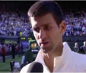 Novak Djokovic dédicade son titre de Wimbledon 2014 à sa fiancée