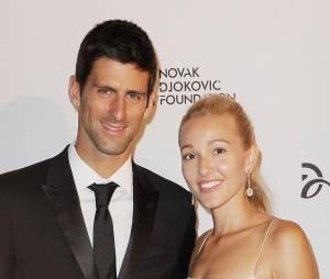 Novak Djokovic et Jelena Ristic : couple souriant à New York, le 10 septembre 2013