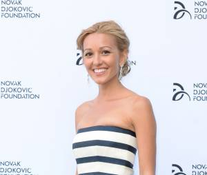 Jelena Ristic, la compagne de Novak Djokovic, glamour à Londres, le 8 juillet 2013