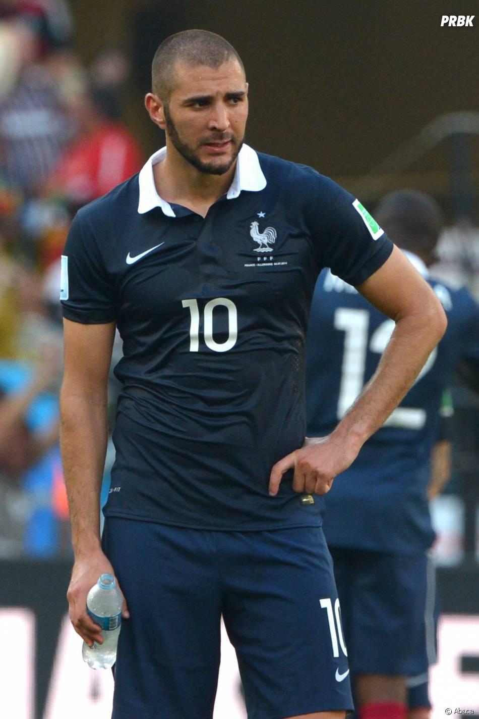 Karim Benzema dépité après France VS Allemagne en quart de finale du Mondial 2014